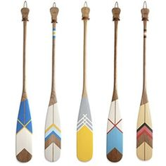 Norquay Co. Designer Canoe Paddles are great for cruising around the lake on day trips or gracing your cabin's wall.