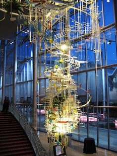 Sarah Sze sculpture | Sculpture suspended in the lobby of Mc… | Flickr