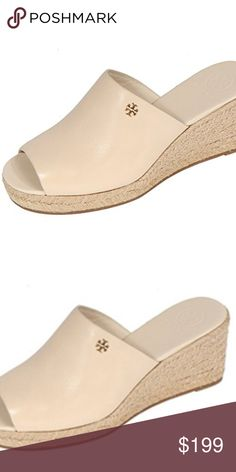 95a869d5000c Shop Women s Tory Burch Cream Gold size 8 Wedges at a discounted price at  Poshmark. Leather lining Rubber sole Open toe