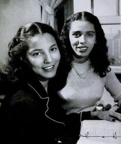 Howard University freshman Rose Esters, a history major, and Sarah White, a pre-med student. Another photo from Alfred Eisenstaedt's 1946 LIFE magazine photo essay, these women were photographed in their Truth Hall dormitory room.