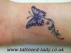 Nice >> Small purple butterfly tattoo on wrist one among a cpl collectively, totally different colours Purple Butterfly Tattoo, Butterfly Tattoo On Shoulder, Butterfly Tattoos For Women, Butterfly Tattoo Designs, Tattoo Designs For Women, Tattoos For Women Small, Small Tattoos, Simple Butterfly, Butterfly Colors