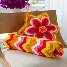 Bolster and Star Pillow
