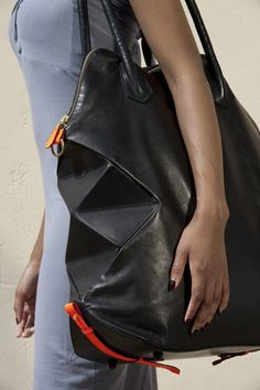 Origami-inspired handbags by Alison Dunlop