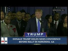 Donald Trump Press Conference Before Rally in Norcross, GA (10-10-15) - YouTube
