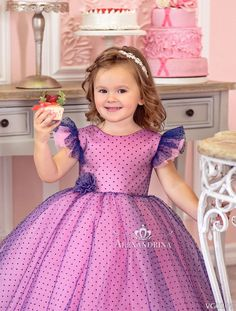 Flower girl dress - Little Lady - online store Alexandrina Frocks For Girls, Kids Frocks, Dresses Kids Girl, Girls Party Dress, Birthday Dresses, Baby Dress, Vip Dress, American Girl Doll Costumes, Pretty Pink Princess