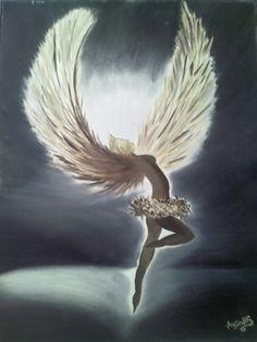 Angel. Pintura en oleo