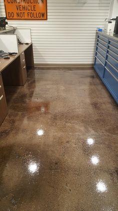 Polished Concrete Hybrid Commercial Floor