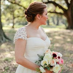Gorgeous Cap Sleeve Wedding Dresses | Beaded Sleeve Gown | SouthernLiving.com