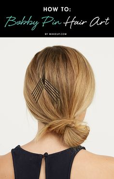 Turn a messy chignon or a simple fishtail braid into something spectacular by using bobby pins to mimic chevron patterns!
