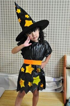 Most parents are hunting for cute costumes for their kids when the Halloween festival has been around the corner. But if you don't want to spend a small fortune, why not consider a DIY gift for your child? Here is a tutorial, guiding you on how to make a cute witch costume for your daughter. It costs you about only $10. What's more important is that it's rather environmental friendly ☺. %2