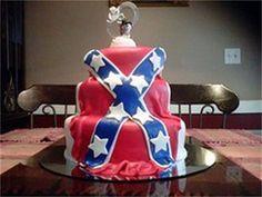 Confederate Flag Cake ..