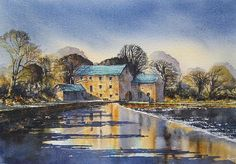 Afternoon At Mullins Mill Kilkenny by Roland Byrne Wall Art, Painting, Image, Painting Art, Paintings, Painted Canvas, Drawings, Wall Decor