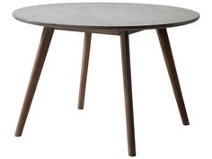 Zuo Outdoor Elite Acacia Wood 45.30 Round Polt Cement Top Dining Table in Natural