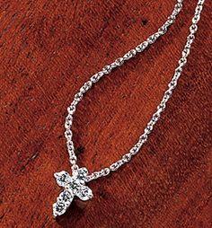 Roberto Coin Tiny Diamond Cross Necklace $580.00