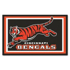 The Cincinnati Bengals NFL 4x6 Area Rug by FanMats