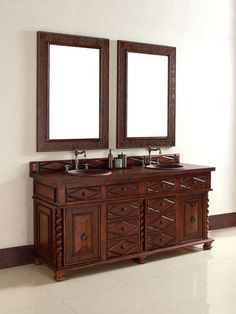 The Continental Vanity is also available as a single sink vanity. Both versions feature dovetail drawers that match the craftsmanship of this beautifully designed vanity. The details are simply amazing. 18 Bathroom Vanity, Single Sink Vanity, Wood Vanity, Double Vanity, Master Bathroom, James Martin Furniture, Dovetail Drawers, Luxury, Vanities