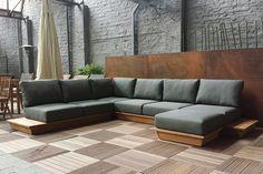 Afbeeldingsresultaat voor loungemeubel hout Outdoor Sectional, Sectional Sofa, Outdoor Furniture, Outdoor Decor, Lounge, Garden, Home Decor, Airport Lounge, Modular Couch