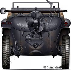 """Engines of the Red Army in WW2 - Trophy """"Schwimmwagen Typ 166"""", .5-ton, Light Car, Trophy"""