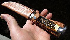 Vintage case stag razor edge with sheath