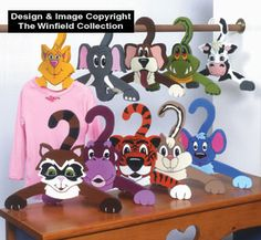 Animal Clothes Hangers Pattern