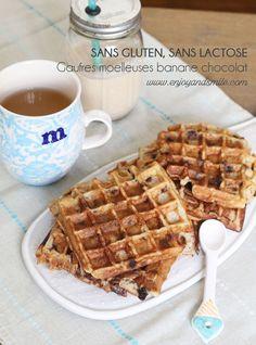 Des gaufres healthy à la farine de sarrasin et sans sucre ajouté (sans gluten, ni lactose)