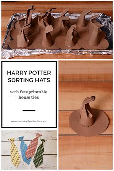 Housewife Eclectic: Harry Potter Sorting Hats and Printable Ties