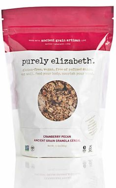 This granola is absolutely outstanding! (and love their cookie mixes!)    purely elizabeth, design by 452 design. http://452design.com/