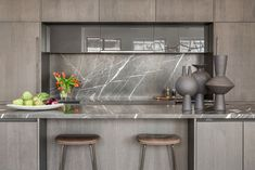 Letos in black stoneware.among other sublime materials from the earth! The Capital Building, Chelsea. Loft Kitchen, Counter Stools, Stoneware, Kitchen Design, Chelsea, Building, Modern, Table, Kitchens