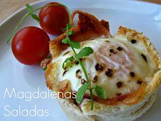 #receta #magdalenas #saladas #bread #cupcakes #egg #bacon