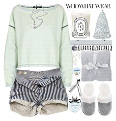 """""""What to Wear:Netflix Binge"""" by grozdana-v ❤ liked on Polyvore featuring Victoria's Secret, Diptyque, Barefoot Dreams, Pull&Bear, rag & bone, Kate Spade, M&Co and WhatToWear"""