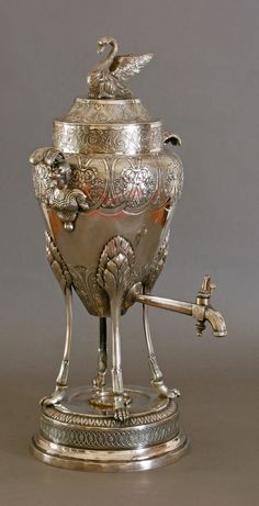 ❤ - HOT WATER VESSEL, Mark: Wilhelm Streithof - Vienna, 1804