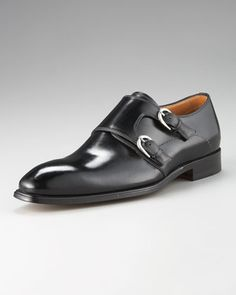 Double Monk-Strap Loafer by Stefano Branchini at Bergdorf Goodman.