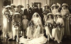 Wedding Day: The 1922 wedding photo of the 6th Earl of Carnarvon, the son of the 5th Earl of Carnarvon and Almina. He married Anne Catherine Tredick Wendell, daughter of Jacob Wendell. They divorced in 1936.