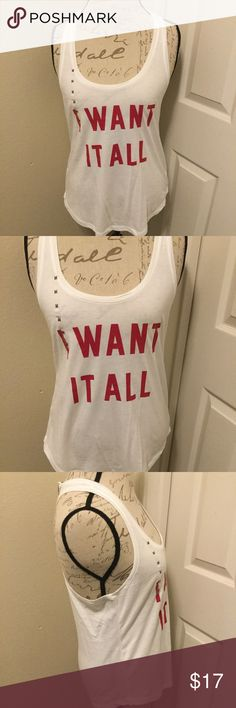 Women's Victoria Secret Tank Top Size M NWT Style: Women's Victoria Secret Tank Top  Brand: Victoria Secret  Material: 59% Cotton 41% Polyester  Length: 26 1/2 Pit To Pit: 14 Color: White & Red  Size: M Condition: New With Tags  Country of Manufacture: Indonesia Victoria's Secret Tops Tank Tops