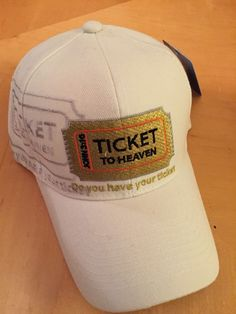 Ticket To Heaven Do You Have Your Ticket John Christian White Baseball Cap in Hats Christian Hats, White Baseball Cap, John 3, Beanies, Ticket, Heaven, Unisex, Ebay, Shopping