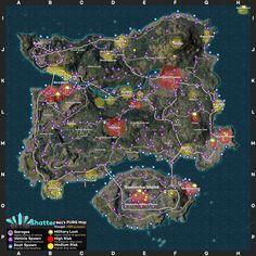 Детальные карты Мирамара и Эрангеля от ShatterNL | PUBG.ru
