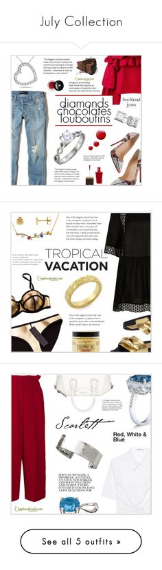 """""""July Collection"""" by applesofgoldjewelry ❤ liked on Polyvore featuring Hollister Co., Christian Louboutin, Erika Cavallini Semi-Couture, Tom Ford, Topshop, Edward Bess, Apples of Gold, River Island, Urban Hydration and Sonia Rykiel"""