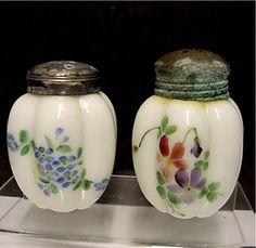 Salt and Pepper Shaker Set Gillinder Glass