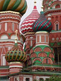 Onion domes on Saint Basil's Cathedral in Moscow