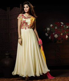 UPTO 10% + Extra 2% OFF On Long #AnarkaliSuits. Free Shipping. Buy Now: http://www.shoppers99.com