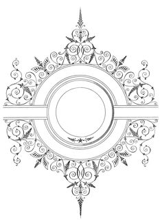 Free Vector Download - Fancy Antique Frame - The Graphics Fairy
