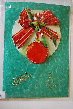 0031, Kerstbal met strik en candycane
