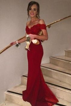 Off The Shoulder Burgundy Bridesmaid Dress,Floor Length Mermaid Burgundy Bridesmaid Dresses,Elegant Long Cheap Prom Dresses Party Evening Gown