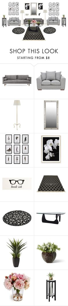 """A Nice Place to Nest"" by paris55587 ❤ liked on Polyvore featuring interior, interiors, interior design, home, home decor, interior decorating, Joybird, Frontgate and Convenience Concepts"