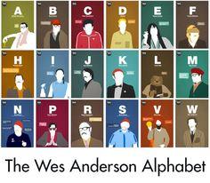 Wes Anderson Alphabet Hero