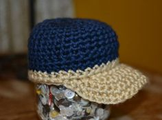 Crochet Ball Cap by aStitchSouth on Etsy, $16.00