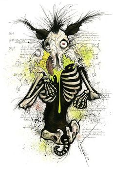 Original Illustrations by Gris Grimly(i have absolutely no idea wtf this is but, i like it!!!)