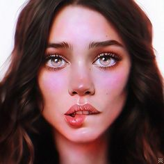 Expressive Female Portraits by Julia Razumova - Inspiration Grid Design Inspiration Digital Art Girl, Digital Portrait, Female Portrait, Portrait Art, Woman Portrait, Inspiration Drawing, Design Inspiration, Surreal Artwork, Visual Metaphor