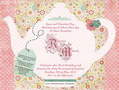 Tea Party Invitation Templates to Print | Free Printable Tea Party ...