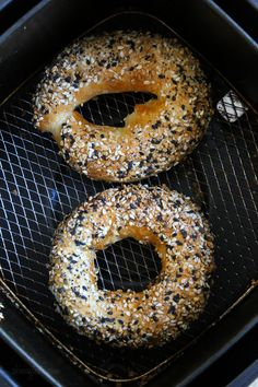 This easy homemade bagel recipe is made from scratch with just four (5) ingredients – flour, Greek yogurt, egg white, baking powder and salt! No yeast, no boiling, no fancy mixer. Bake them in the oven or in the air-fryer!